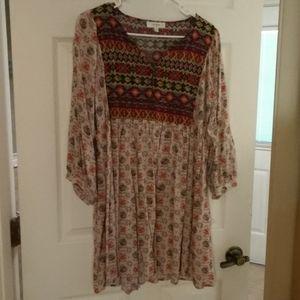 BNWOT XL UMGEE USA SUNSET COLORED SHORT DRESS